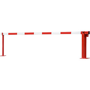 COMPACT Red/White Fixed-Strut Gas-Assisted Boom Barrier