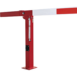 COMPACT Red/White Gas-Assisted Boom Barrier