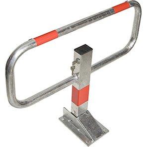 COMMANDER Zinc-Grey/Red Drop-Down Barrier