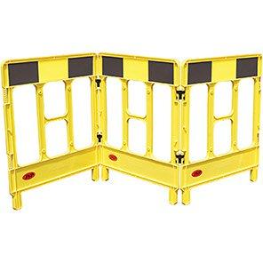 JSP WorkGate Yellow/Black Three-Panel Barrier Systems