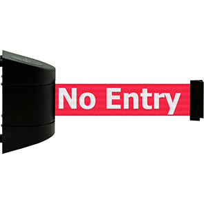 """Tensabarrier """"No Entry"""" Retractable Barrier Wall Unit"""
