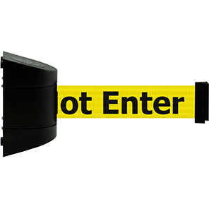 """Tensabarrier """"Authorised Access Only"""" Retractable Barrier Wall Unit"""
