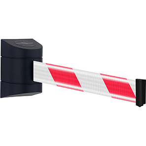 Tensabarrier Retractable Barrier Wall Unit with Red/White NightView Belt