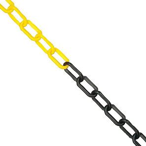 JSP Yellow/Black Plastic Chain 25m