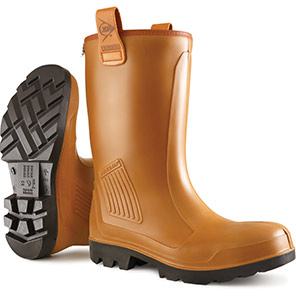 Dunlop Purofort Rig-Air Brown Waterproof S5 Safety Rigger Boots