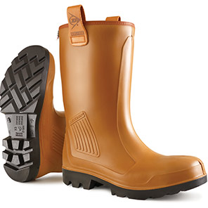 Dunlop Purofort Rig-Air Brown Lined Waterproof S5 Safety Rigger Boots