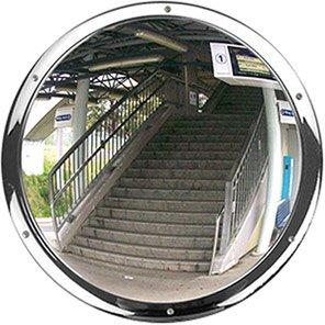 Anti-Vandal Circular Wall-Mounted Convex Mirror 500mm