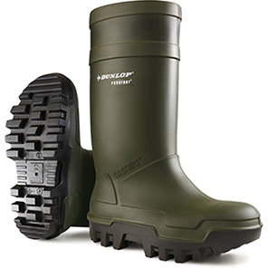 Dunlop Purofort Thermo+ Green Insulated S5 Safety Wellington Boots