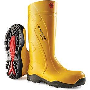 Dunlop Purofort+ Yellow S5 Safety Wellington Boots