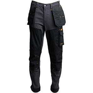 DeWalt Memphis Stretch Trouser Primary Base Colour Grey Secondary Base Colour Black
