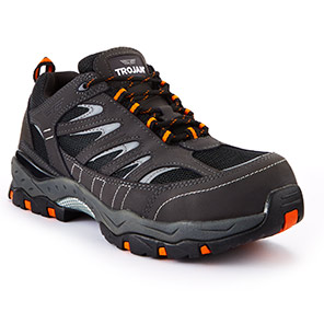 TROJAN Hyperion Black S1P Safety Trainers