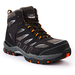 TROJAN Hyperion Grey S1P Safety Hiker Boots
