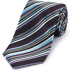 Skopes Club Men's Aqua/Plum Tie