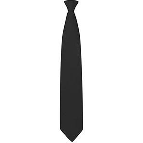 Black Clip-On Safety Tie