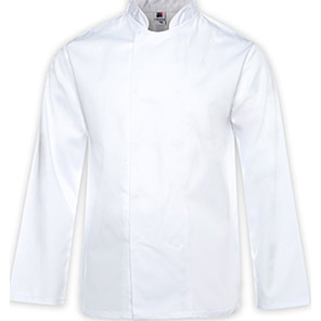 Tibard White Breathable Long-Sleeve Chef's Jacket