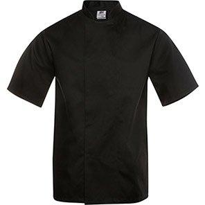 Tibard Black Short-Sleeve Classic Chef's Jacket