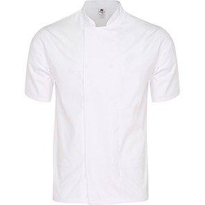 Tibard White Breathable Short-Sleeve Chef's Jacket