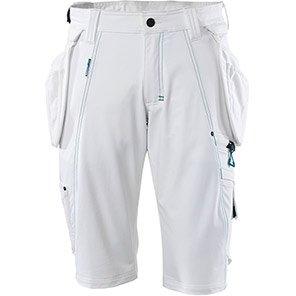 MASCOT Advanced White Work Shorts