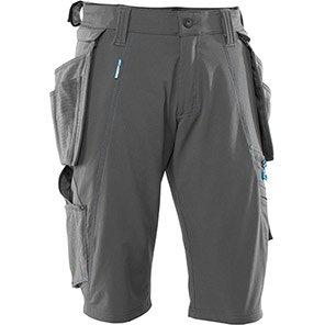 MASCOT ADVANCED Dark Anthracite Grey Work Shorts