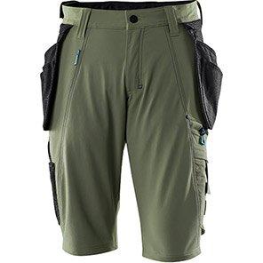 MASCOT ADVANCED Moss Green Work Shorts