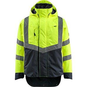 MASCOT SAFE SUPREME Harlow Yellow/Navy Hi-Vis Jacket