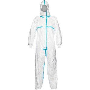 EN14126 5B 6B Taped Disposable Suit White