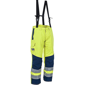 ProGARM 9880 Yellow/Navy Hi-Vis Electric-Arc Waterproof Trousers