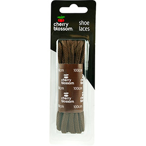 Cherry Blossom 100cm Round Brown Shoelaces