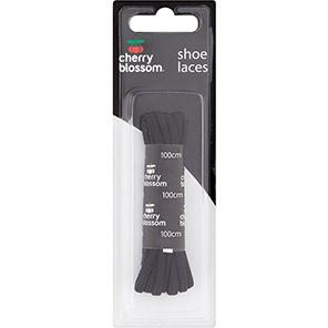 Cherry Blossom 100cm Round Black Shoelaces