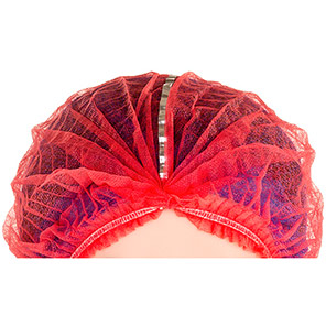 Lion Red Detectable Pleated Mob Caps (Pack of 1000)