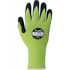 LXT Cut E Glove Coating colour Green Secondary coating colour Black