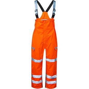 PULSAR PR504 Orange Waterproof Hi-Vis Bib and Brace Overalls