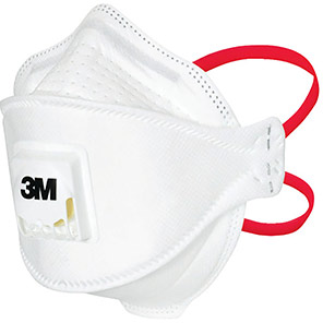 3M Aura 1873V+ Valved Fold-Flat FFP3 Healthcare Dust Mask (Pack of 60)