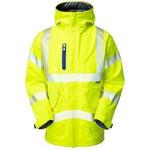Leo Workwear Marisco Yellow Waterproof Hi-Vis Jacket