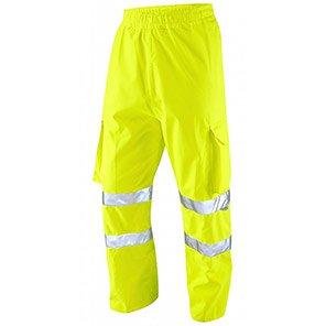 Leo Workwear Lundy Yellow Waterproof Overtrousers