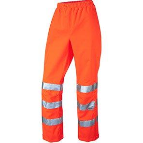 Leo Workwear Hannaford Women's Orange Hi-Vis Overtrousers